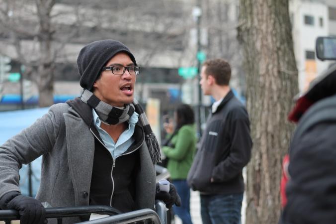 Occupy K Street Demonstration, Washington DC.  October 2011 © stephanie l brown