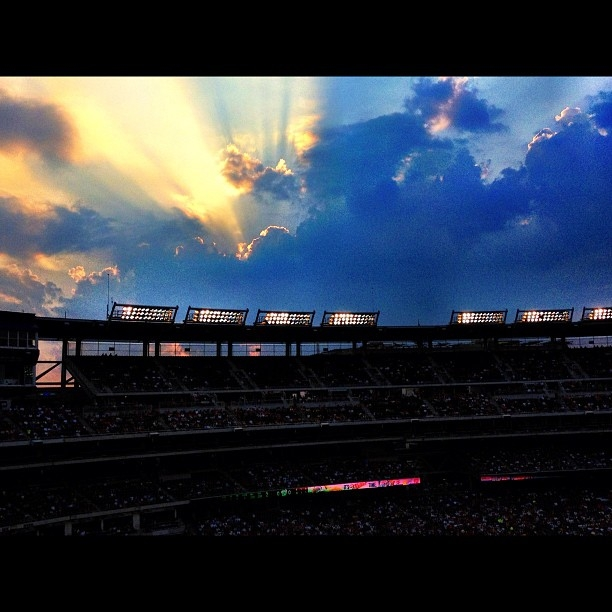 Sunset over Nationals Park.  © 2012 Stephanie L. Brown